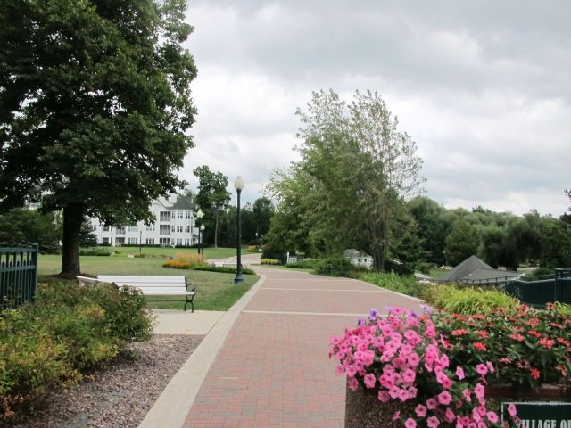 Osthof Resort walkway in Elkhart lake