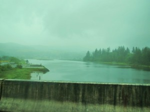 Estuary on rainy day - Oregon coast