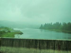 Estuary on rainy day - Oregon coast
