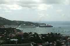 Cruise ships in Charlotte Amalie harbor